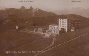 Rochers De Naye L'Hotel Dents Du Midi Tours D'Ai Et De Mayen RPC French Postcard