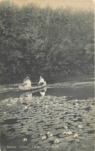 c1910 Delaware Water Gap Pennsylvania Water Lillies Lake Lenape Hiauser's