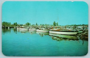 New Buffalo MI~First One Is Janet & June's~For Power Boat Races~Having Fun 1960s