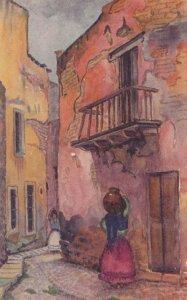 Casa Del Alfenique Mexican Painting Old Postcard