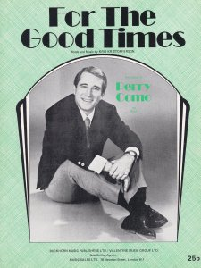For The Good Times Perry Como 1970s Sheet Music