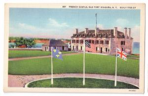 Old Fort Niagara French Castle NY Postcard