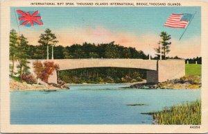 International Rift Span Thousand Islands Bridge Canada USA WM Jubb Postcard G59