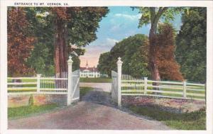 Virginia Entrance To Mount Vernon
