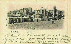 France Dieppe Le Casino Promenade Church Postcard