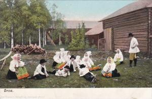 Sweden Orsa Locals In Traditional Costume