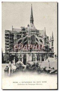 Old Postcard Reims Cathedrale North Coast Advertisement Mercier Champagne Cas...