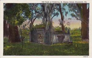 Georgia Brunswick Old Tomb At Frederica Saint Simons Island