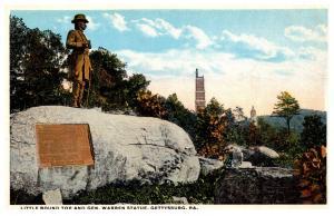 Pennsylvania Gettysburg   Little Round Top and Warren Statue