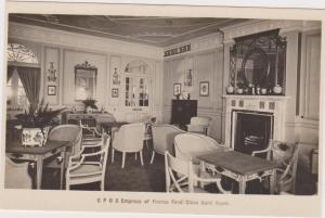 RP; C. P. O. S. Empress Of France First Class Card Room, 1920-1940s