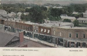 BLENHEIM , Ontario, Canada, 1908 ; Looking South East from Town Hall