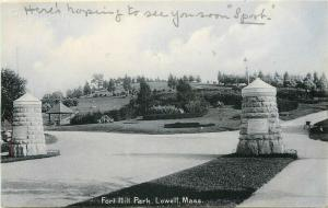 MA, Lowell, Massachusetts, Fort Hill Park, Rotograph No. D 1581