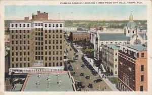 Florida Tampa Florida Avenue Looking North From City Hall 1927