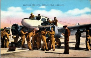 LEARNING THE ROPES - PLANE - AIRPLANE - WAR -  Kessler Field Missouri POSTCARD