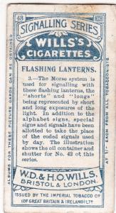 Cigarette Card  Wills Signalling Series No. 43 Flashing Lanterns 3