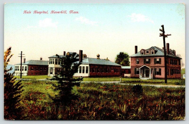 Haverhill Massachusetts~Hale Hospital~Multiple Buildings Across Field~c1908 PC