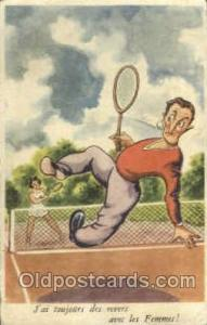 M.D. Paris, No. 180 Tennis, Old Vintage Antique, Post Card Postcard  M.D. Par...
