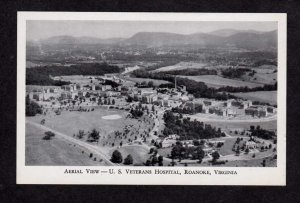 VA Aerial view US Veterans Hospital Roanoke Virginia Postcard  V A PC