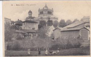 ARS, Ain, France, PU-1907; Vue Generale, Little Girls With Goats