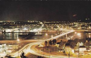 Night Scene, Metropole Du Saguenay, Chicoutimi, Quebec, Canada, PU-1985