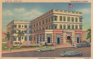 MIAMI BEACH, Florida ,1930-1940s ;  Hotel Astor, Overlooking Ocean