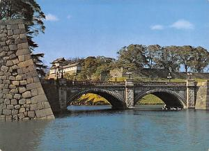 Japan Old Vintage Antique Post Card Nijyubashi Double Bridge Palace Imperial ...