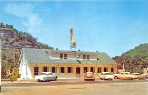 Lexington KY Marie & Dicks Riverview Drive-In Restaurant Old Cars Postcard
