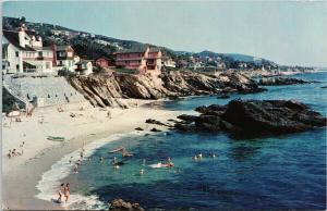Laguna Beach California CA c1973 Vintage Postcard F3