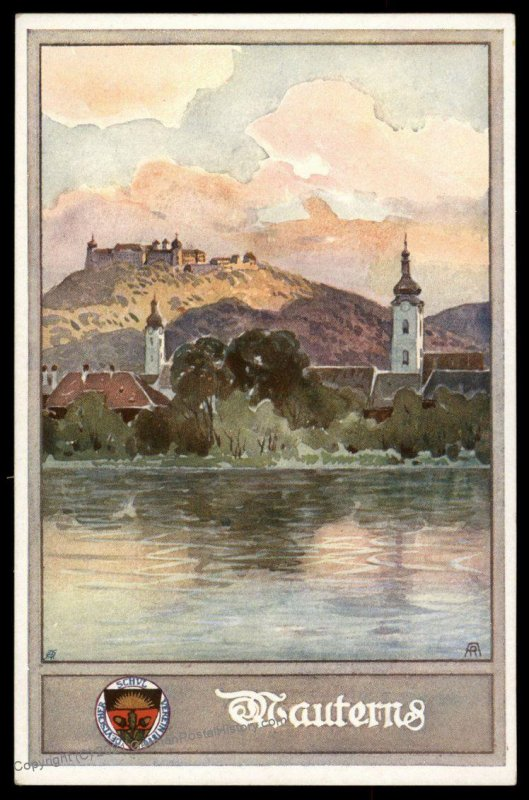 Austria Mauterns WWI German Unification DSV Patriotic Postcard UNUSED 98827
