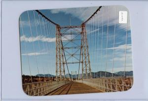 CO - Royal Gorge Bridge.  JUMBO Postcard (6.75 X 5.25) Label attached to sl...