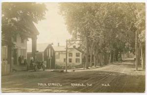 Argyle NY Dirt Street Post Office Auto Real Photo RPPC Postcard
