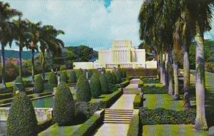 Hawaii Oahu Church Of Jesus Christ Of Latter Day Saints Mormon Temple At Laie