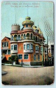 SAN FRANCISCO, California HINDOO TEMPLE Hindu Temple only one in U.S. Postcard