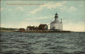 Lighthouse Entrance to Halifax Harbour Nova Scotia c1910 Postcard