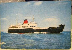 Postcard Transport Ferry MV Osborne Castle Red Funnel Steamers - unposted