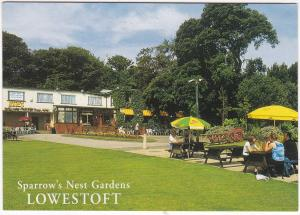 Postcard Suffolk Lowestoft Sparrow's Nest Gardens Salmon