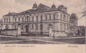 Adam Smith & Beveridge Halls Kirkcaldy Old Postcard
