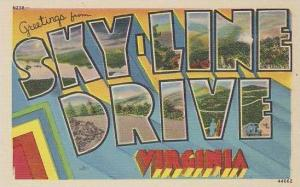 Virginia Sky Line Drive Greetings From Large Letter Linen
