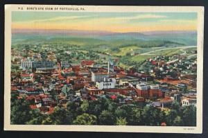 Birdseye View of Pottsville PA Lynn H Boyer P2 Linen