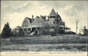 Duxbury MA Home of Fanny Davenport c1910 Postcard