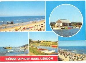 Germany, Grusse von der Insel Usedom, 1990 used Postcard
