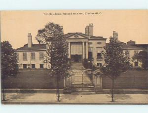 Unused Divided-Back HISTORIC HOME Cincinnati Ohio OH W4295