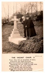 9341   The Vacant Chair ,  Poem,  Dead Soldier's Family,  RPC   Bamforth...