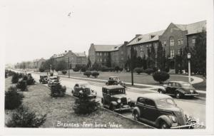 Barracks Fort Lewis WA Ellis 7304 Old Cars Army Base Unused RPPC Postcard E9