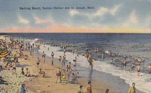 Bathing Beach, Benton Harbor and St. Joseph, Michigan, PU-1947