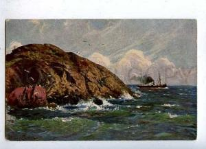 184635 OCEAN Ship by SHRECKHAASE Vintage color PC