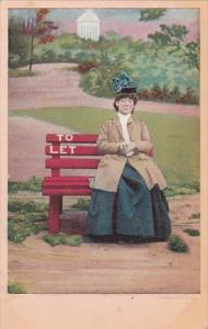 Bamforth Series 1062 Lonely Old Woman Sitting On Bench