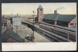 America Postcard - New Railroad Station, Bridgeport, Connecticut RS19196