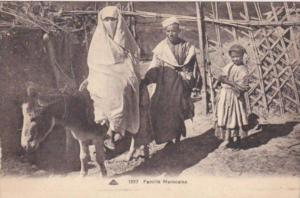 Morocco Famille Marocaine Typical Moroccan Family