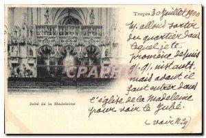 Postcard Old Troyes Jube Madeleine